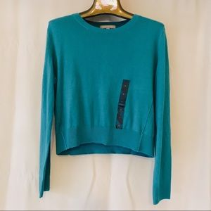 Banana Republic NWT Teal Crew Neck Sweater Small
